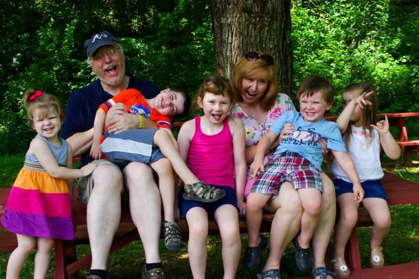 150628 Family Vacation-Sonja and me and all the kiddies